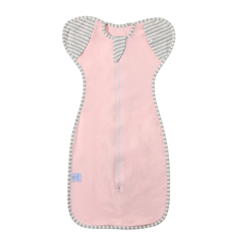 Four seasons baby anti startle swaddle wrapper baby cotton stretch swaddle wrap sleeping bag with detachable sleeves